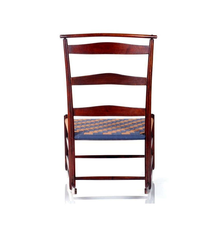 Shaker Maple Rocking Chair with Shawl Bar For Sale at 1stdibs