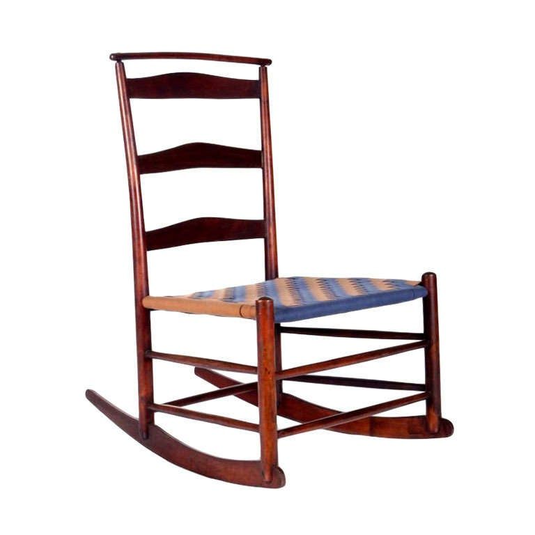 Shaker Maple Rocking Chair with Shawl Bar at 1stdibs
