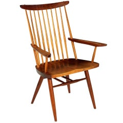 "Studio Crafted Walnut ""New"" Arm Chair by George Nakashima"