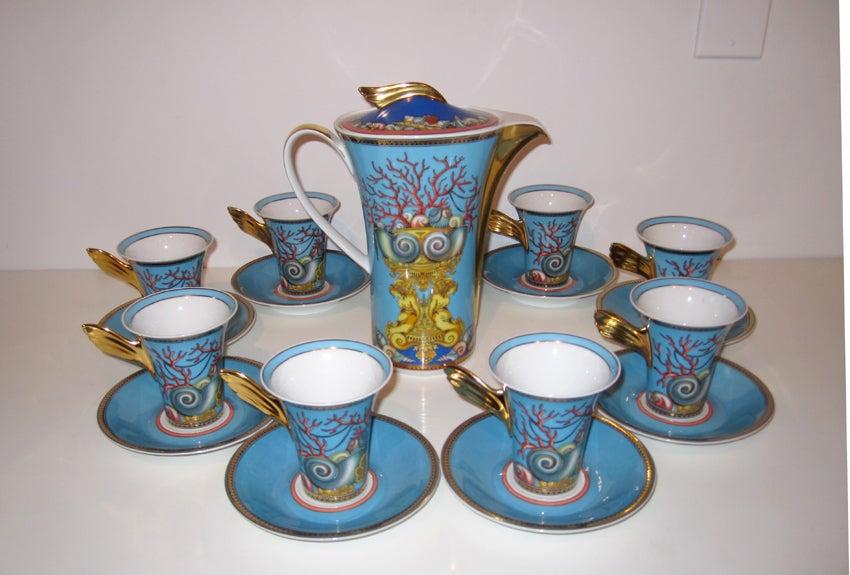 Coffee Tea Service Versace For Rosenthal Les Tresors De La