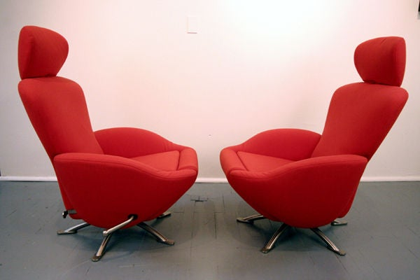pair of dodo lounge chairs by toshiyuki kita for cassina. Black Bedroom Furniture Sets. Home Design Ideas