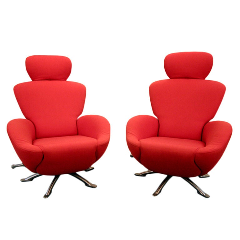 Pair of Dodo lounge chairs by Toshiyuki Kita for Cassina