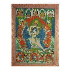 An Antique Tibetan Buddhist Thangka