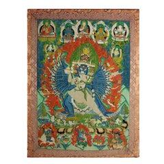 An Antique Tibetan Buddhist Thangka