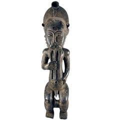Baule male figure from Ivory Coast African tribal art