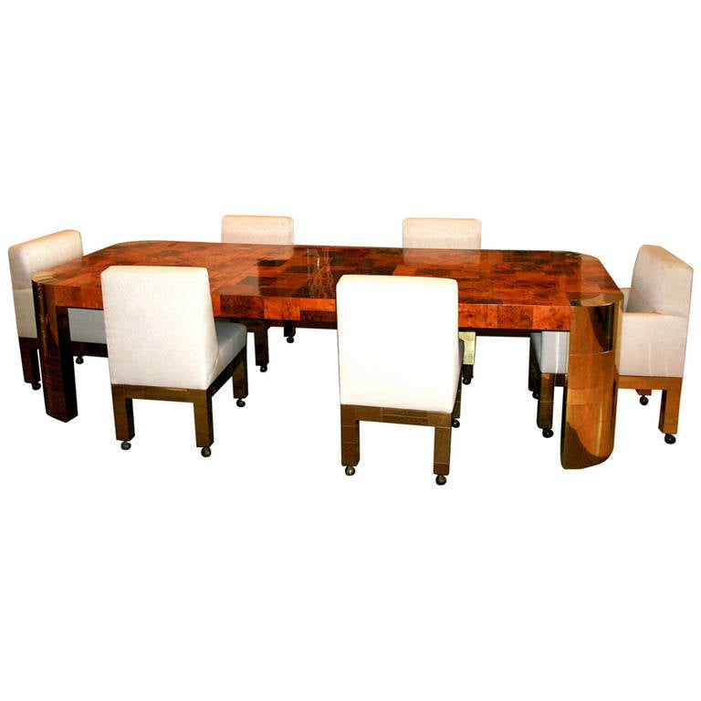 Curvilinear Dining Table With Extension Paul Evans For