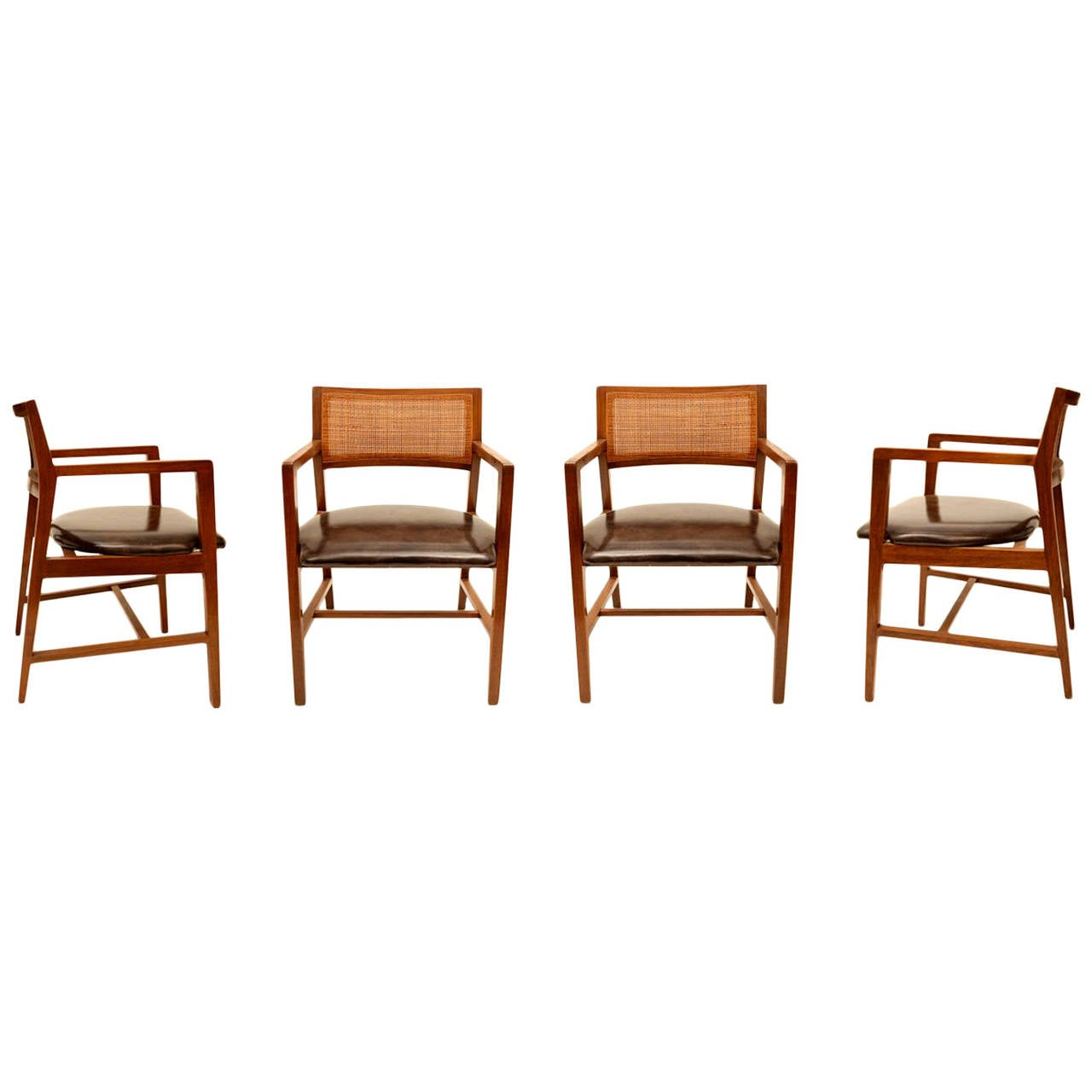 Set of Four Dining Chairs by Edward Wormley for Dunbar