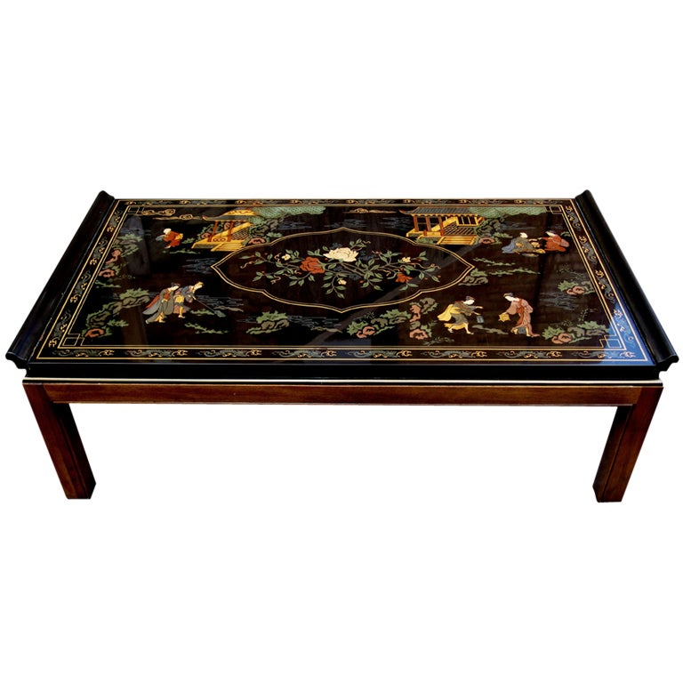 Lacquered Coffee Table Drexel Heritage At 1stdibs