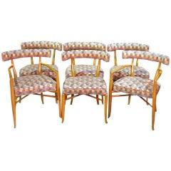 Set of six Klismos dining chairs Robsjohn Gibbings Widdicomb