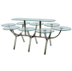 Glass and Steel Banquet Table by Design Institute of America