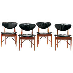 A Set of Four early teak and chairs Finn Juhl made by Niels Vodder