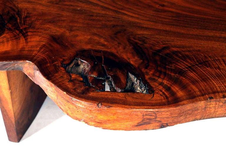 Free Edge Walnut Coffee Table George Nakashima 3