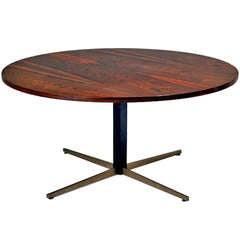 An Adjustable Brazilian Rosewood Jacaranda Table