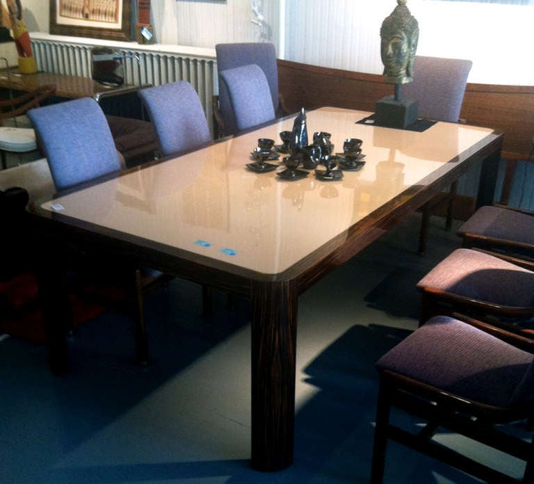 Madagascar ebony radius dining table vladimir kagan art