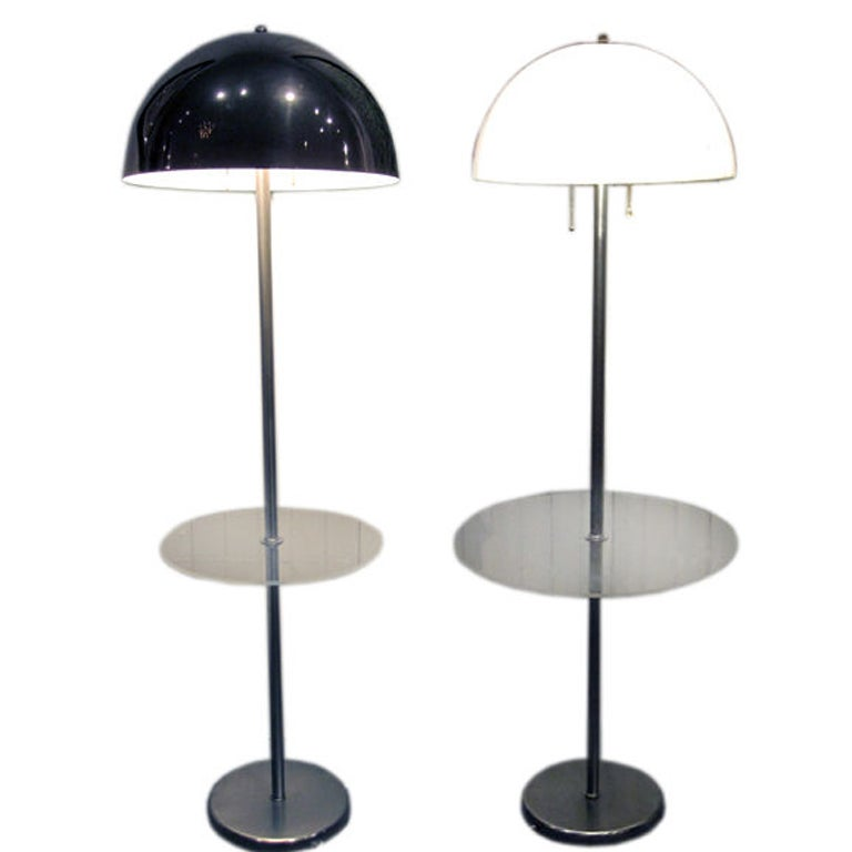 Two Vintage Midcentury Floor Lamps by Nessen Studio