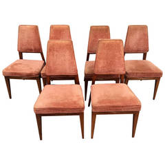 Set of Six Dining Chairs by Vladimir Kagan for Grosfeld House