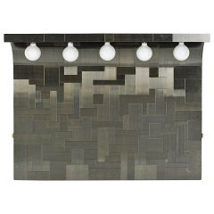 Cityscape headboard with lights Paul Evans for Directional