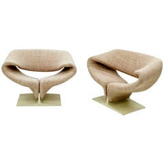 Pair of Vintage Ribbon Lounge Chairs Pierre Paulin for Artifort