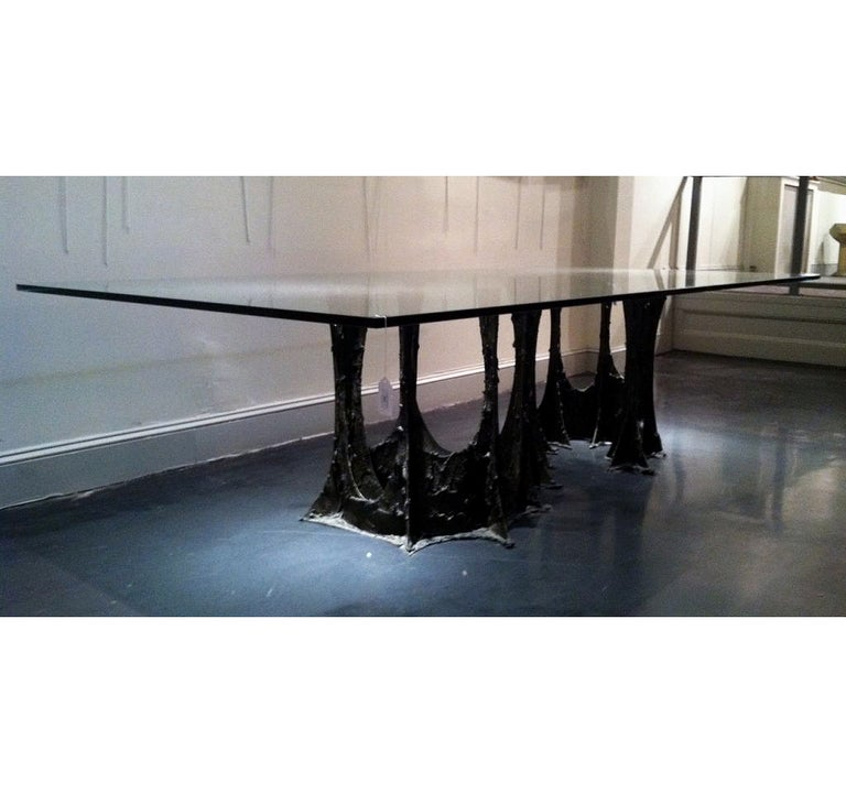 Paul Evans Sculpted Stalagmite Bronze Dining Table At 1stdibs
