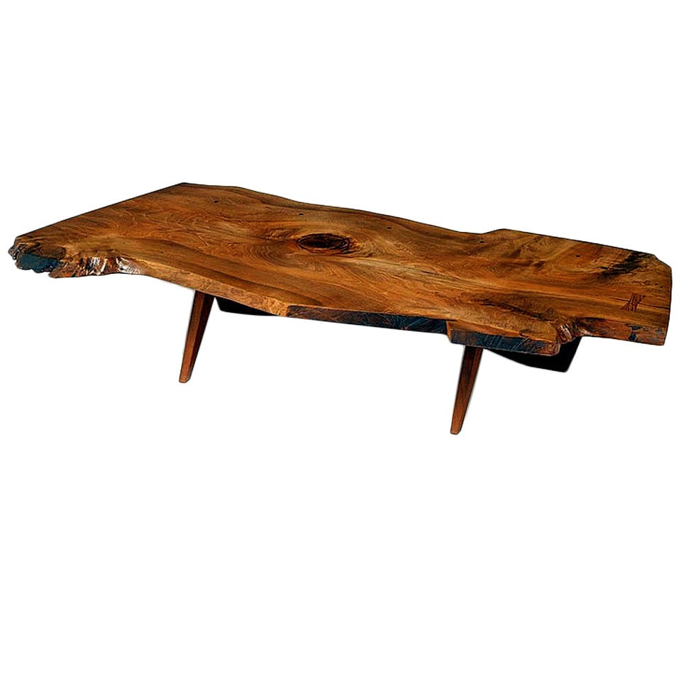 Early Large Walnut Coffee Table by George Nakashima For Sale at ...