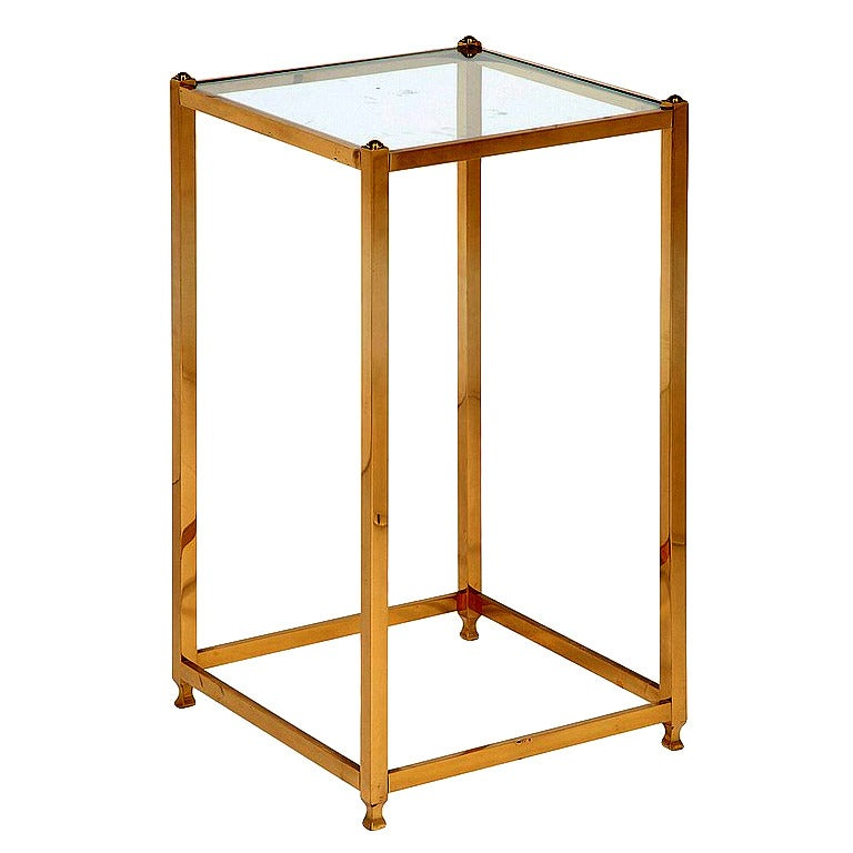 A Brass side table by John Vesey For Sale