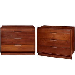 Pair of American Black Walnut Chests by George Nakashima