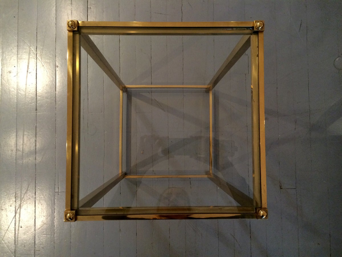 A Brass side table by John Vesey In Good Condition For Sale In Atlanta, GA