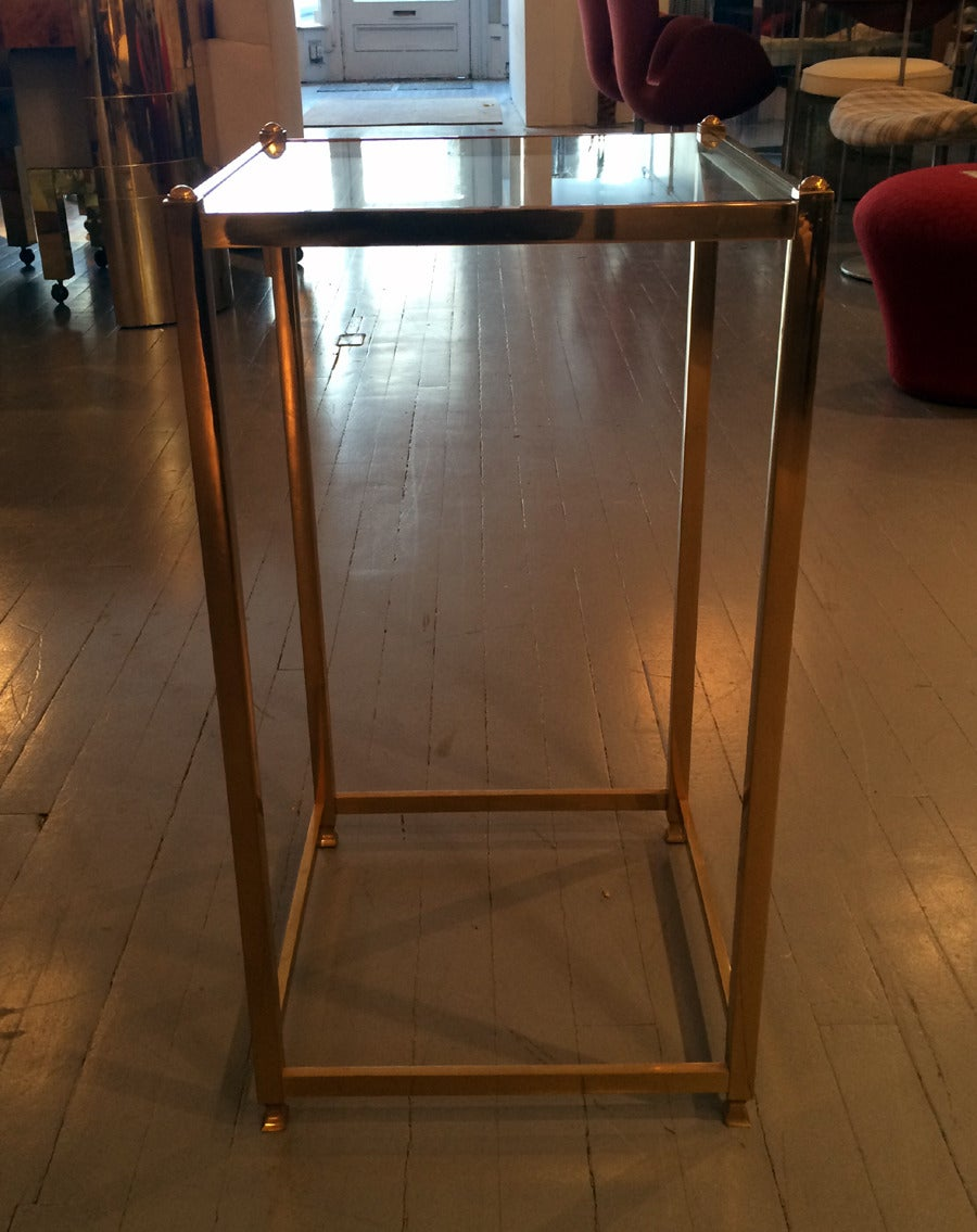 American A Brass side table by John Vesey For Sale