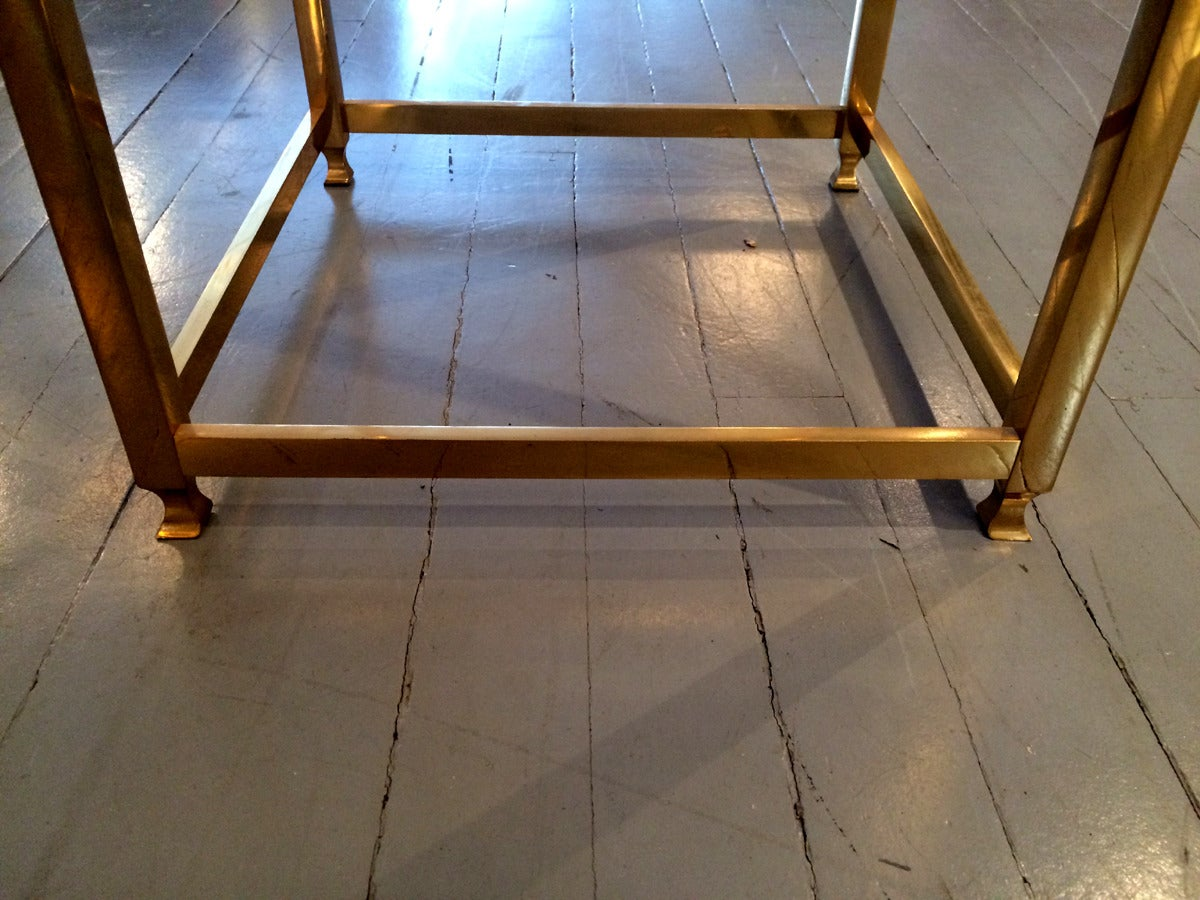 Late 20th Century A Brass side table by John Vesey For Sale