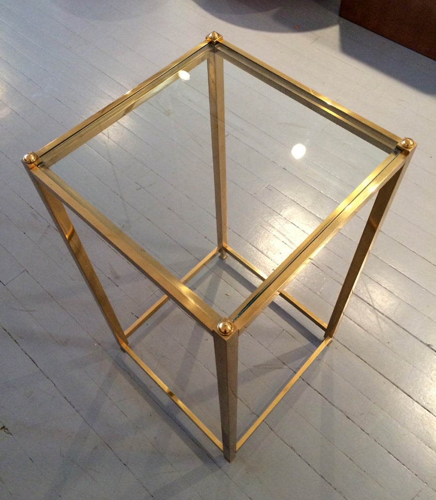 Modern A Brass side table by John Vesey For Sale