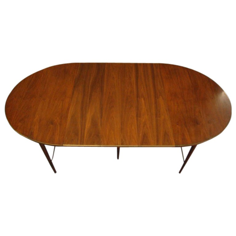 Extension drop leaf dining table with brass band paul for Drop leaf extension table