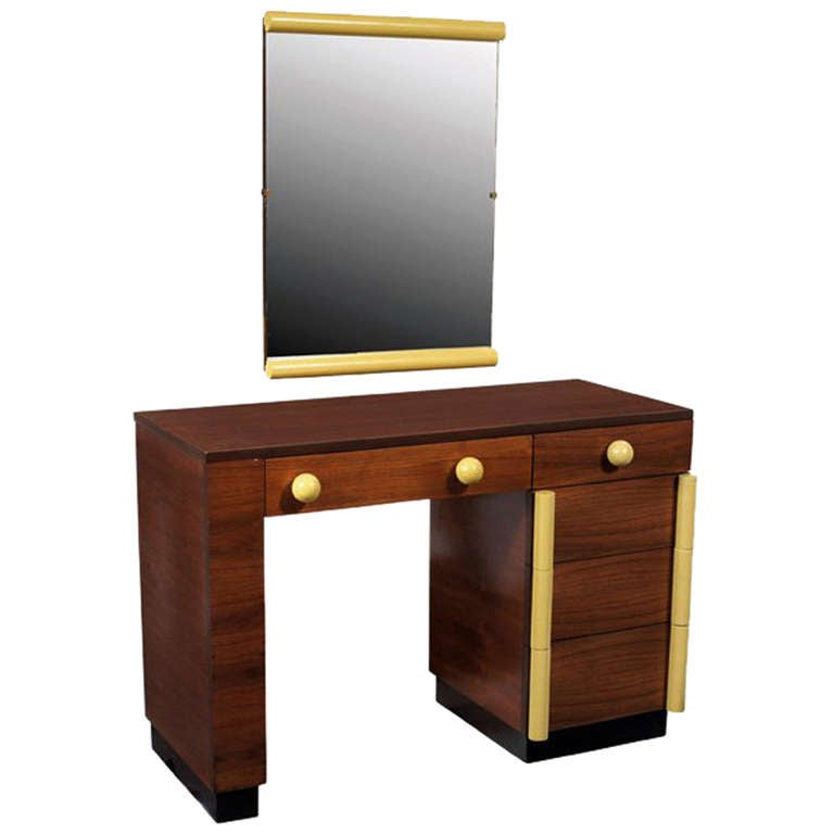 Art Deco Vanity Desk And Mirror Gilbert Rohde for Cavalier For