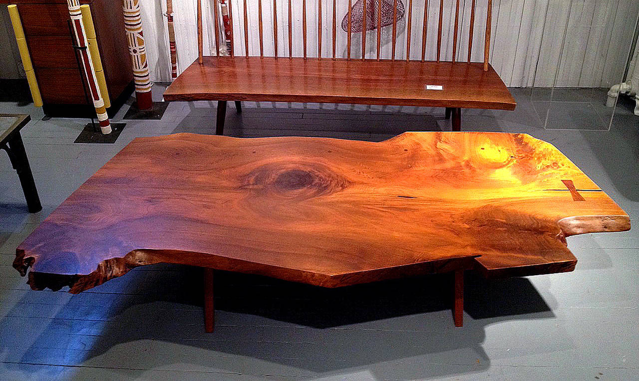 American Early Large Walnut Coffee Table by George Nakashima