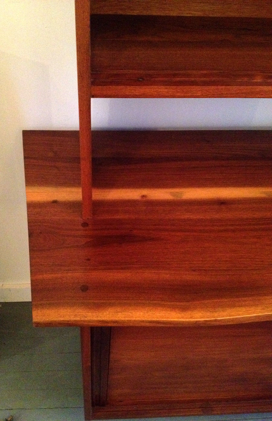 American Walnut Sideboard with Top Shelf by George Nakashima For Sale