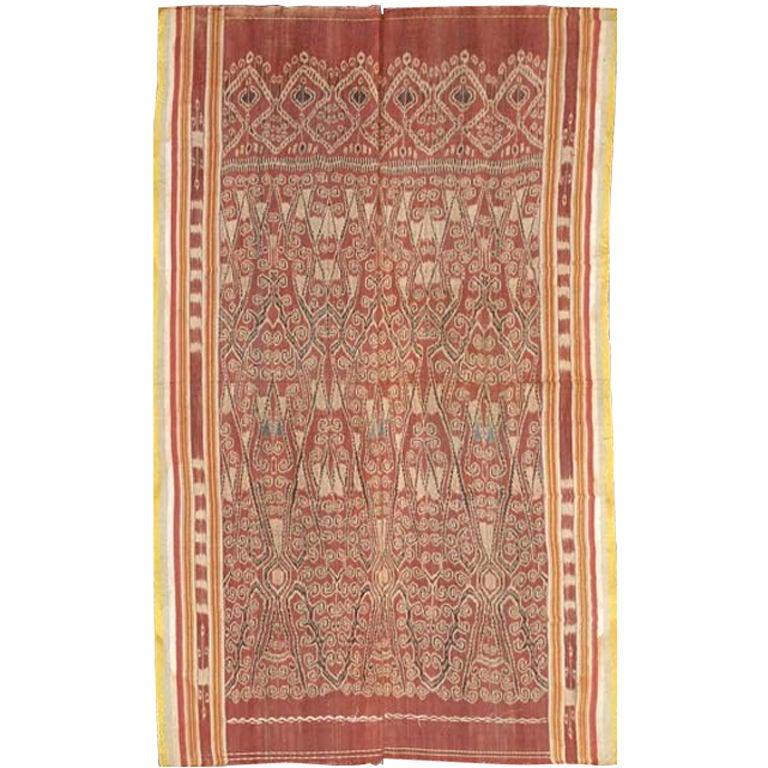 Antique Ikat Pua from Borneo Indonesia