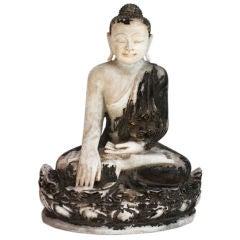 Antique Alabaster Buddha Statue Burma Southeast Asia