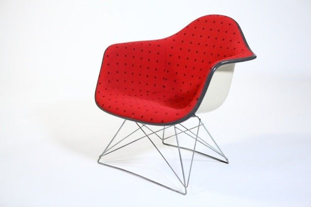 Rare Eames LAR (Lounge Arm Rod) Lounge Chair With Cat In Cradle