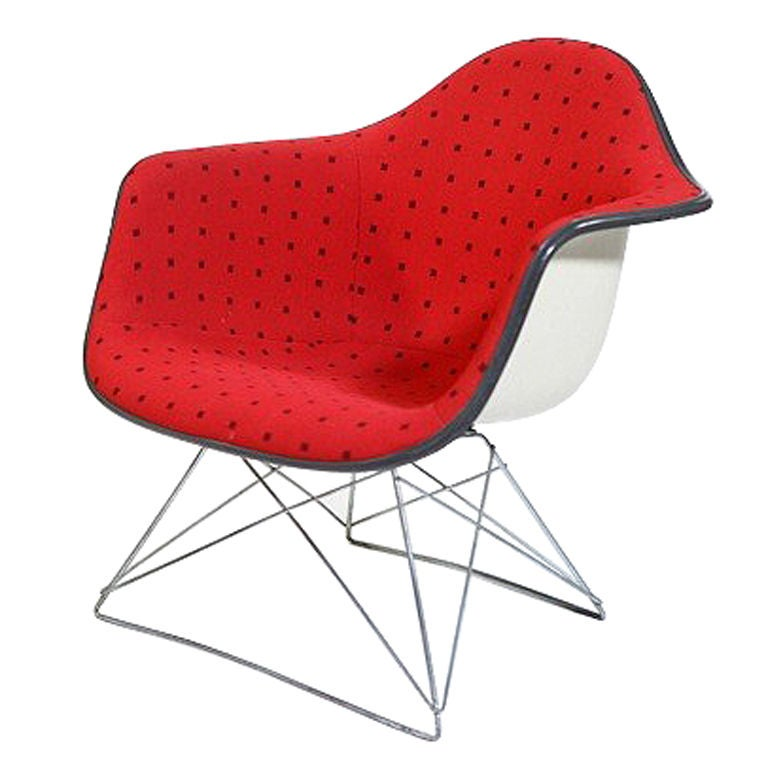 Eames LAR Chair w/ Cat's Cradle base & Alexander Girard  Fabric
