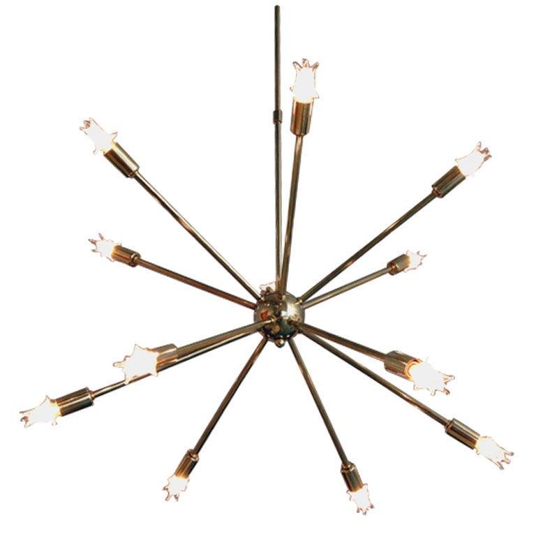 Vintage Brass Sputnik Chandelier At 1stdibs