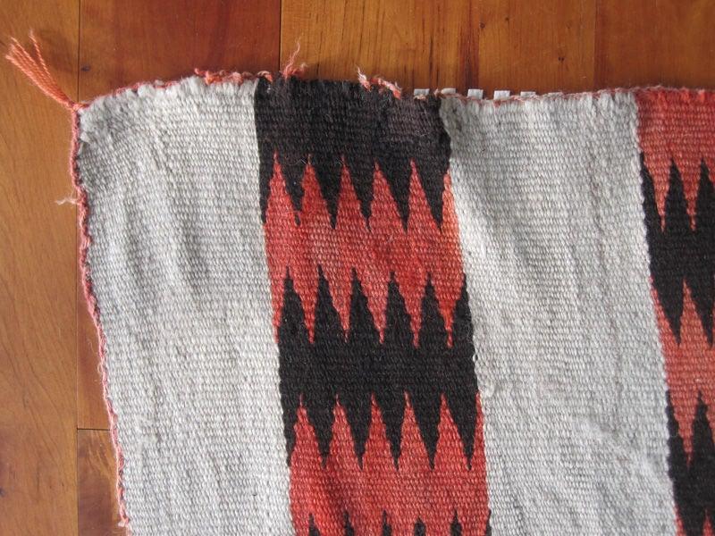 Transitional Navajo Blanket Rug Weaving 3