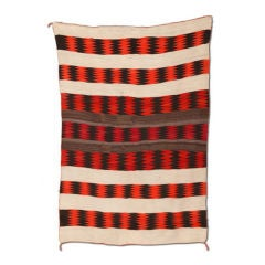 Transitional Navajo Blanket Rug Weaving