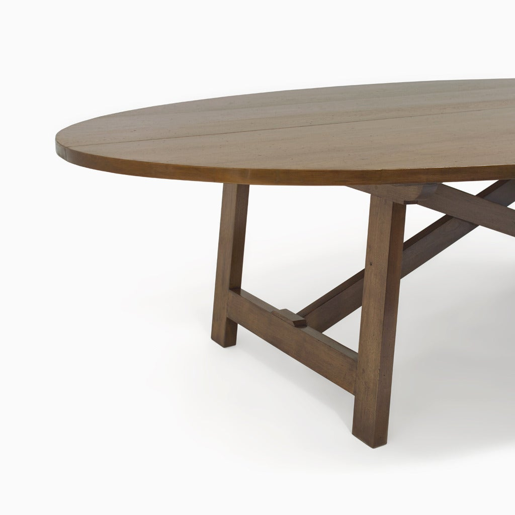 The Oval Trestle Table For Sale at 1stdibs