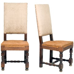 Pair of Louis XVI Hall Chairs
