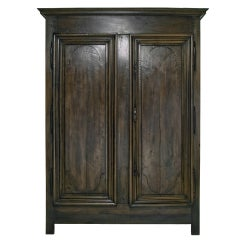 Austere Louis XIX Walnut Armoire