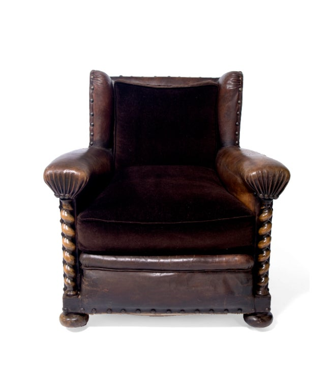 A Handsome 19th Century French Leather Library Chair 2