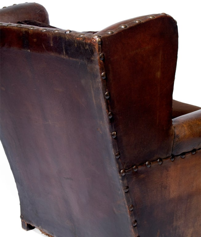 A Handsome 19th Century French Leather Library Chair 4