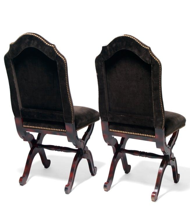 Maison Jansen Faux Tortoise Folding Chairs At 1stdibs