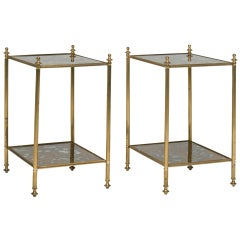 Tortoise Verre Eglomisé Side Tables