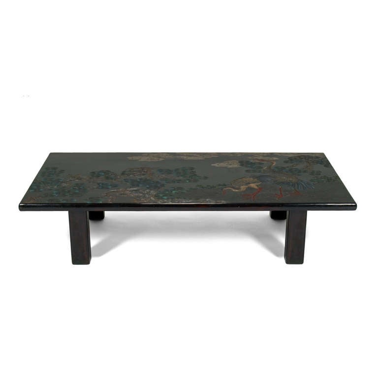 French 60 39 S Chinoiserie Lacquer Coffee Table At 1stdibs
