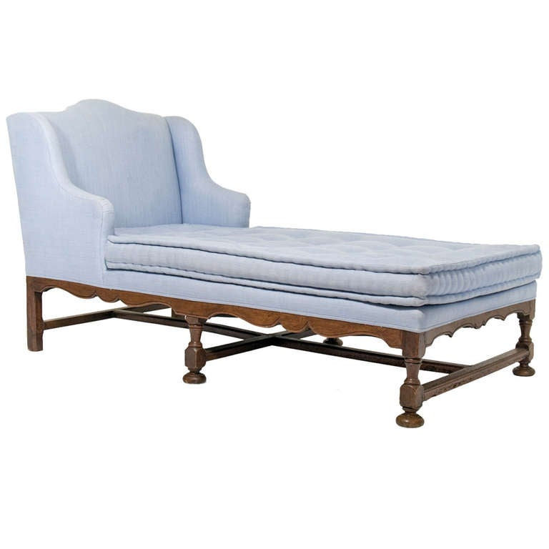 Grand scale 19th c french walnut chaise longue at 1stdibs for Chaise longue france